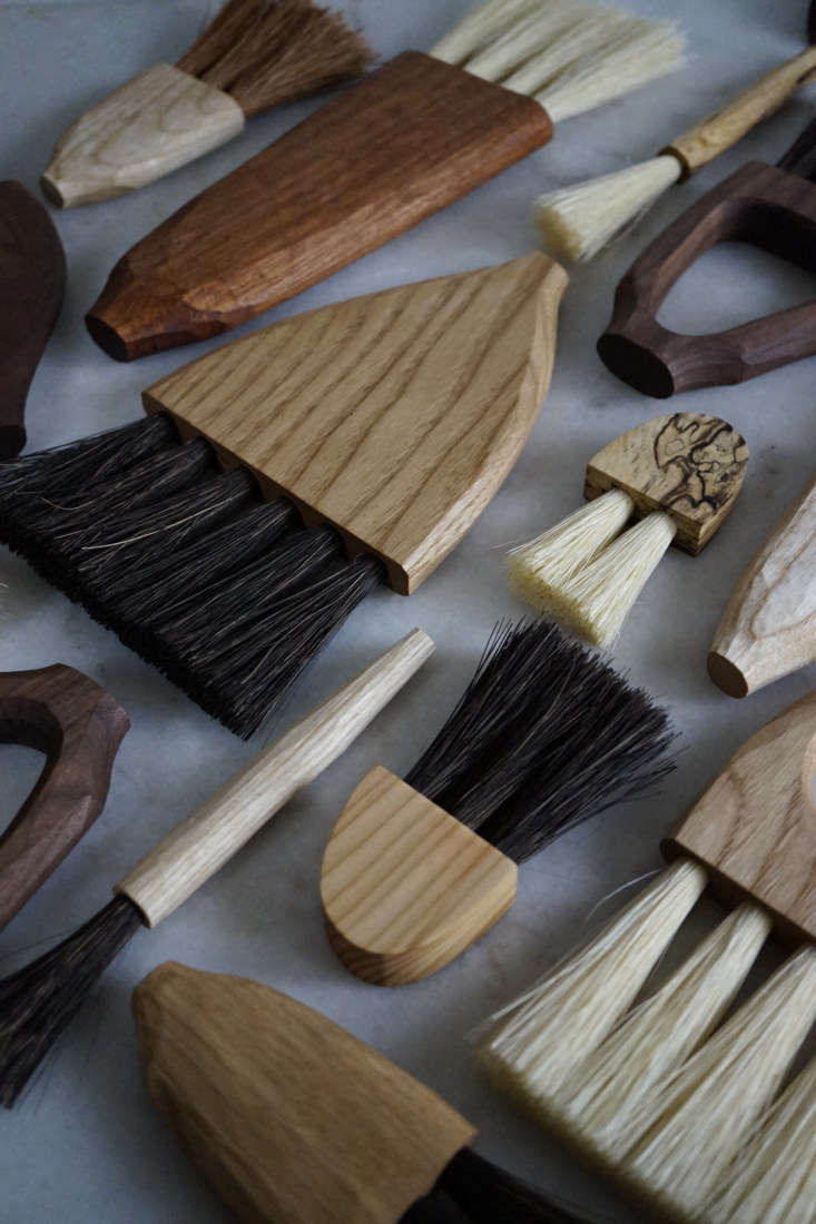 A collection of Sophie Sellu brushes. See more in the Grain & Knot shop—everything is currently sold out but new pieces will be offered at the end of the month: watch for the alert @grainandknot. To appreciate her process, watch Sophie making a wooden spoon here.