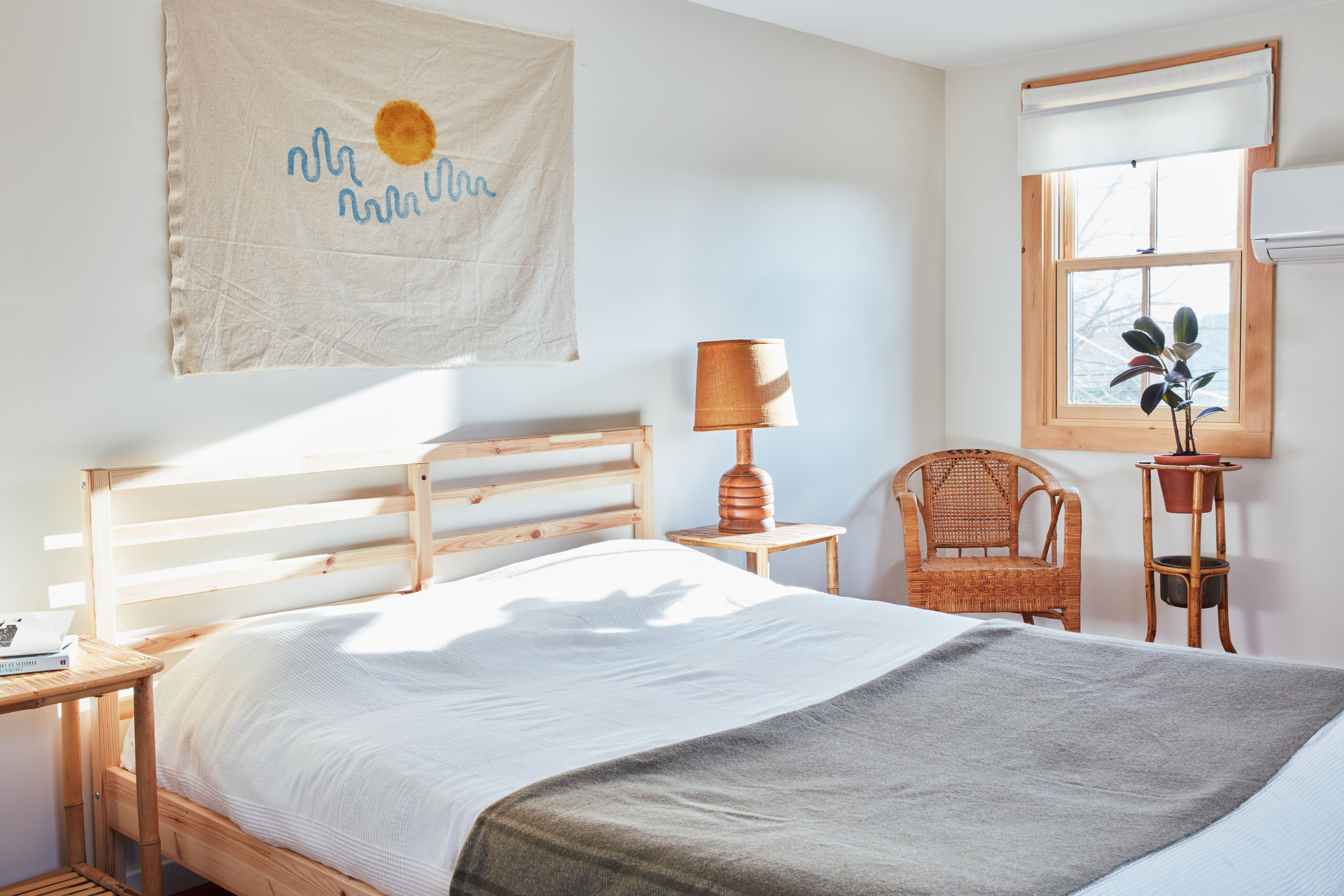 Summer Sounds A Pair of Musicians Effortlessly Cool Redone Cape in Westerly RI Available on Airbnb The sunny main bedroom. &#8\2\20;All of the furniture is thrifted, aside from the Ikea bed frame,&#8\2\2\1; Sean says. &#8\2\20;We didn&#8\2\17;t shun choosing certain things from Ikea. My&#8\2\17;s mother just retired from working in business development at Ikea in Sweden and Athens, Greece, for over \20 years, so it&#8\2\17;s in the family.&#8\2\2\1;
