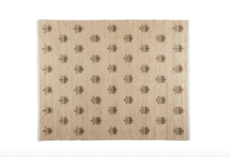 and the hand knotted disha rug is one of four new rugs made in partnership with 14