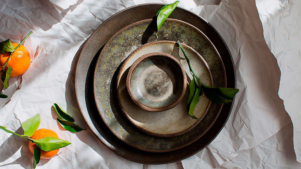 Handmade Tableware by Mary Mar Keenan in Michelin-starred restaurant Bellota in San Francisco. Photograph via The Infatuation.