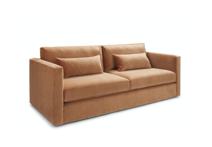 the haywood sofa—shown here in mg+bw's new boulevard auburn performance vel 11