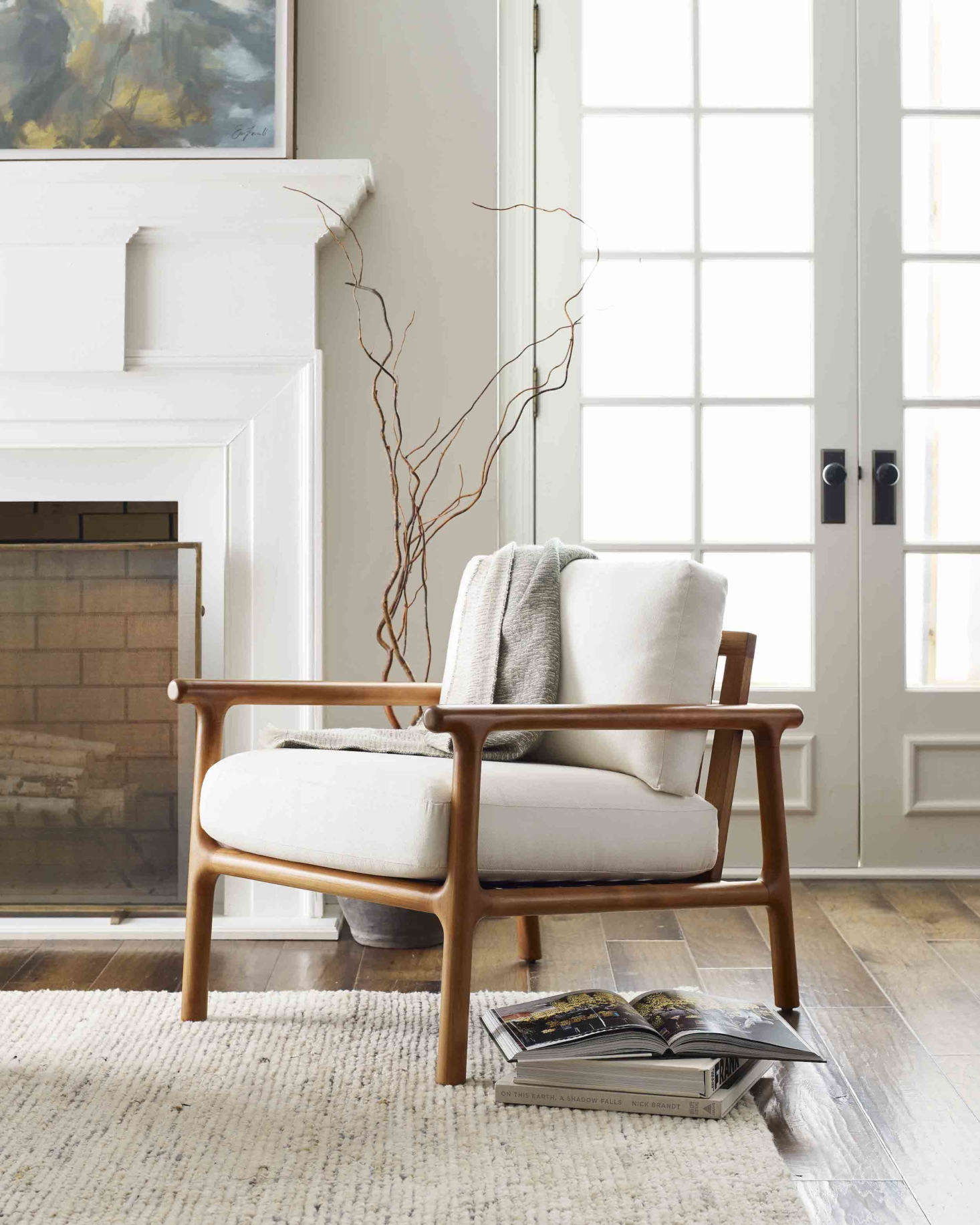 The new Laguna Chair has a sustainably sourced, heirloom-quality teak frame and a Scandinavian spirit; the generous cushions are available in over 575 fabrics and 40 leathers.