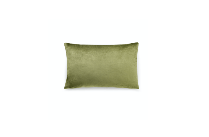 the us made naomi velvet pillow has a luxe velvet front available in \1\1 color 13