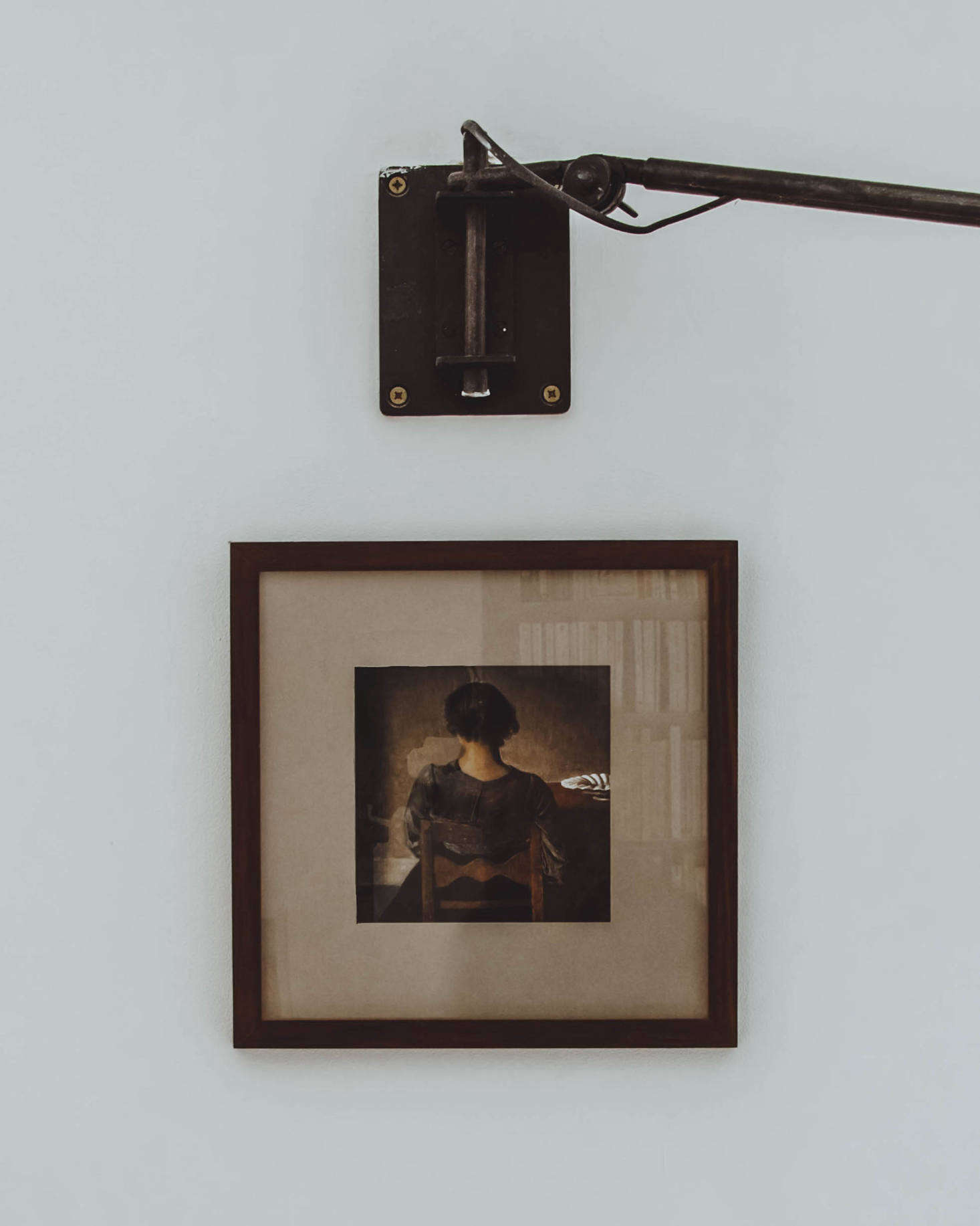A Hammershoi print hangs on one wall. (N.B.: For a room inspired by Hammershoi, see Kitchen of the Week: A Culinary Space Inspired by a Painting.)