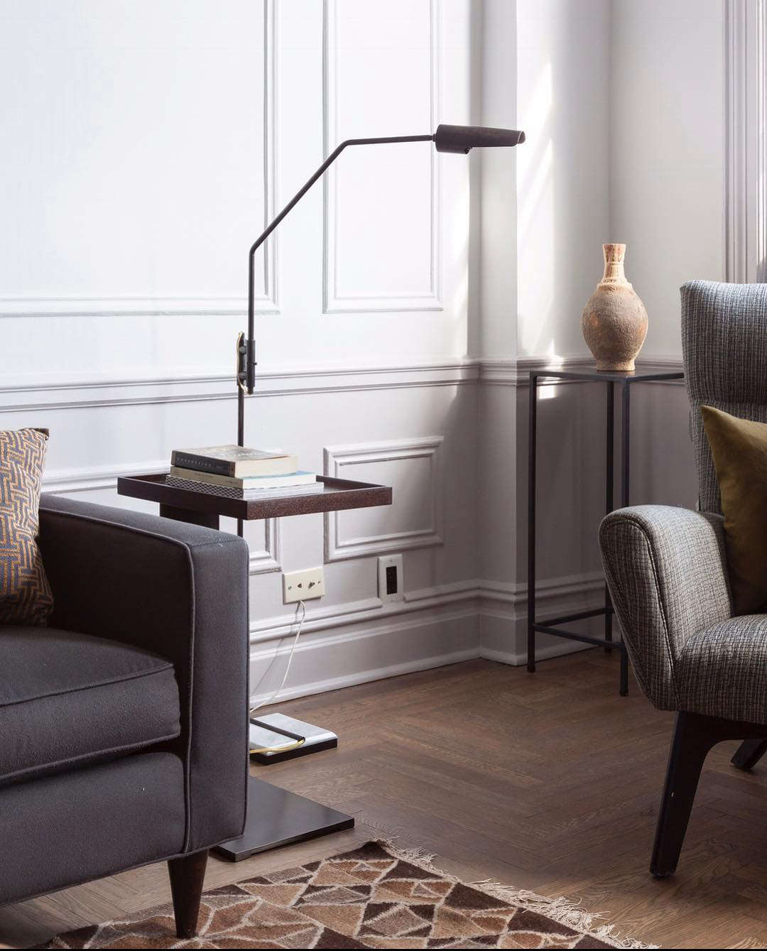 The Switch Floor Lamp by Lumifer by Javier Robles, as seen in a private home in New York.