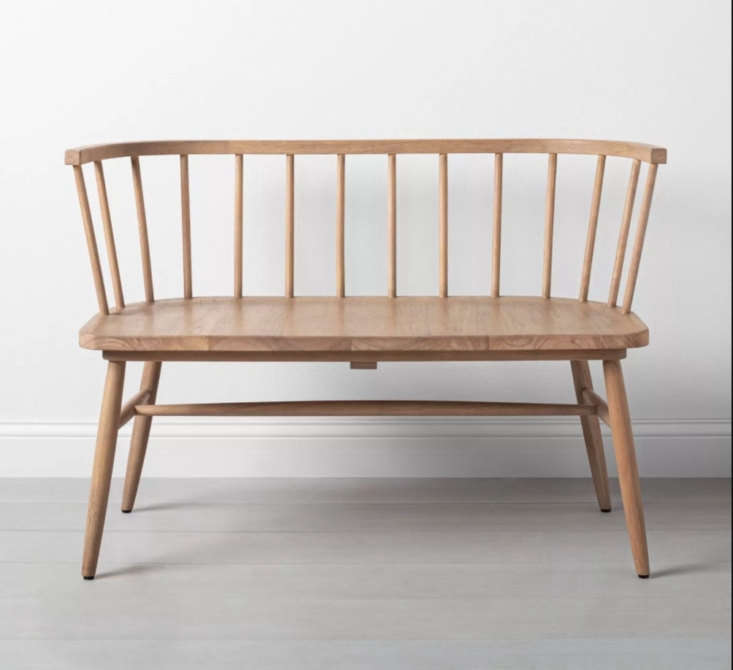 For a more rustic version, try the Shaker Dining Bench by Hearth & Hand for Magnolia at Target; $9. It&#8