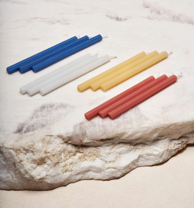 via maris chanukah candles—available in early october—come in colors that c 13