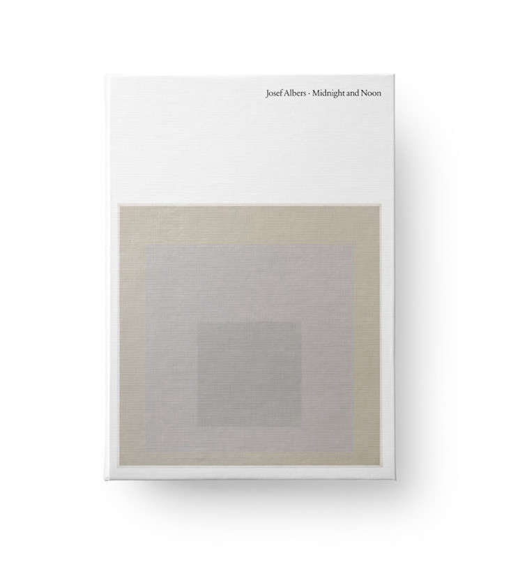 Josef Albers Midnight and Noon, a hardcover catalogue from David Zwirner Books, is what inspired Staton. The catalogue accompanied the David Zwirner Gallery&#8