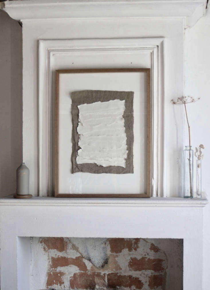the mantel in justine&#8\2\17;s office displays an epure collage. 26