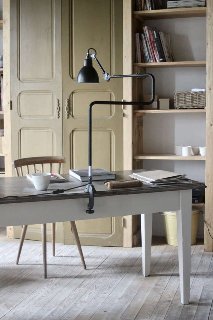 justine&#8\2\17;s desk is a vintage table that she partly painted white, li 27