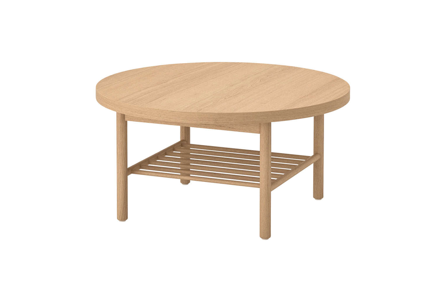 The Listerby Coffee Table in white-stained oak is an affordable $loading=
