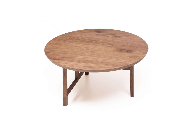 The smaller and rounder Neri & Hu Trio Coffee Table for De La Espada in Black Walnut is £