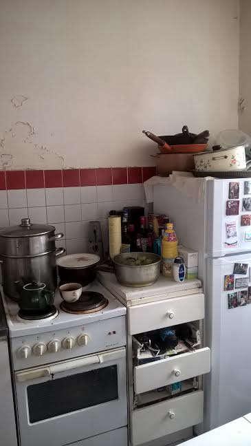 Paris kitchen BEFORE, Stephen O'Sullivan.