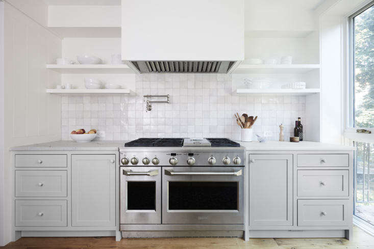 the owners purchased their 48 inch wolf double oven range second hand. it has a 12
