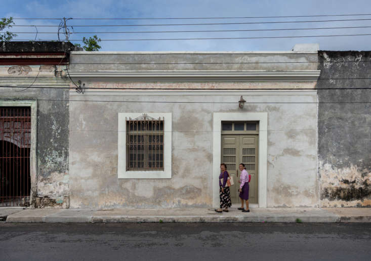 the couple chose to keep the faded facade of casa cool, though they had to have 9