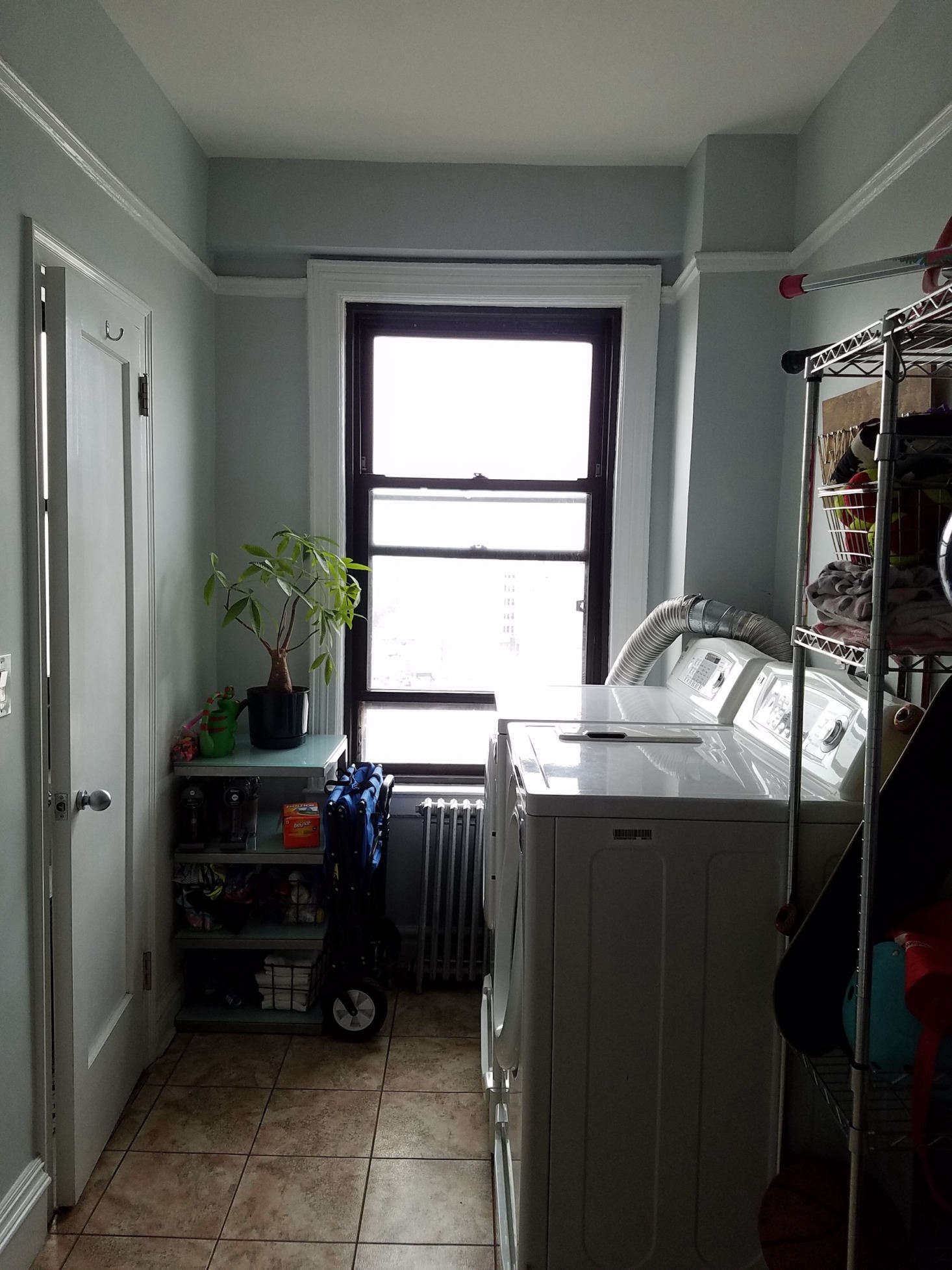 One of the staff rooms was used as a utility closet.