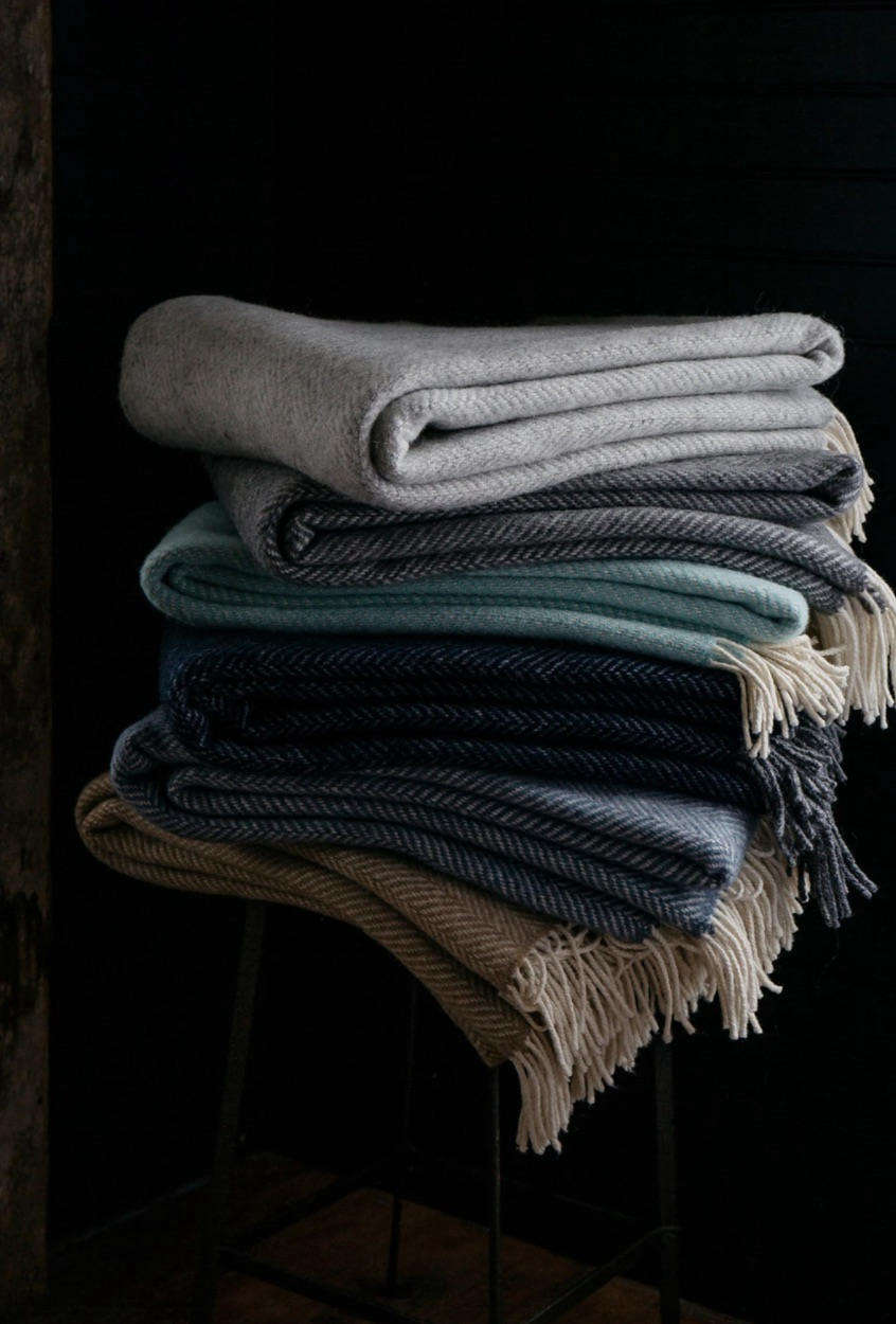 Over on Evangeline Linens, Remodelista readers can take % off of these Herringbone Throws along with the rest of their cozy products with code REMODELISTA. (Learn more about the maker inInto the Wild: Evangeline Linens in Portland, Maine.)