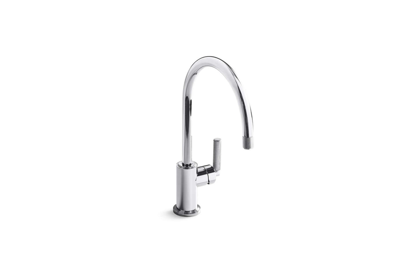The Kallista Vir Stil Faucet is designed by interior architect Laura Kirar and features tubular details. Contact Kallista for ordering information.