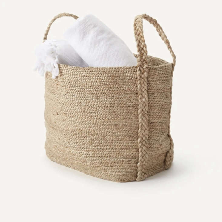 Kept, which features elevated home essentials, is offering % off site-wide (discount is applied at checkout). Shown here is the Maya Jute Basket, a stylish storage solution. (See Domestic Science: Kept, a New Utilitarian Line from Design Star Kara Mann.)