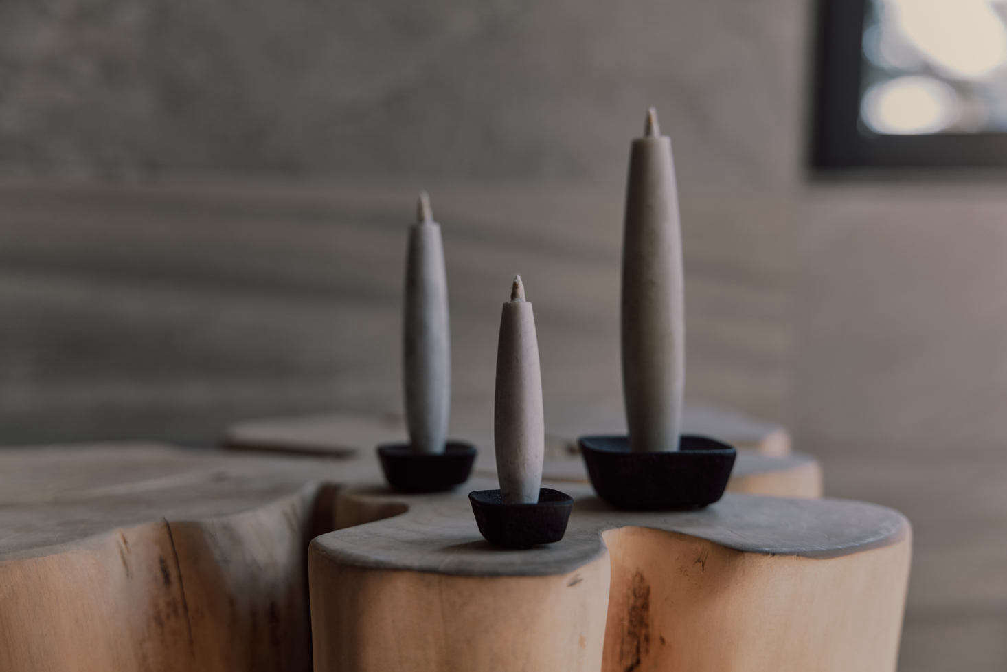 The perfect addition to dark winter days: a Sumac Candle Gift Set, with sumac candles and a cast-iron candle stand, all tucked into a reusable wooden box. The candles are handmade from the fruit of the Japanese haze tree by a family-run business in Ishikawa that has been making traditional Japanese candles since 9