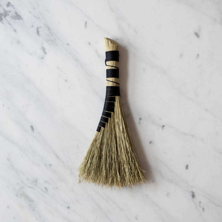 The Handmade Whisk Corn Broom ($36.55) has a woven handle and an angled sweep for getting into corners.