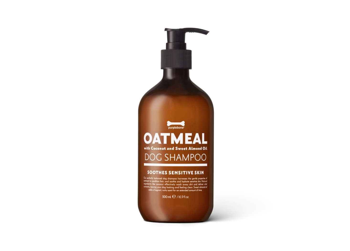 The go-to hair product at London dog salon Purplebone, Oatmeal Dog Shampoo is a blend of oatmeal and coconut that moisturizes skin and is gentle enough for weekly use; £.99.