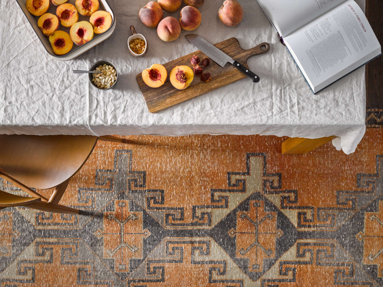 And we love Revival's rugs, too, like this one-of-a-kind original vintage Turkish runner, hand-knotted in a terra-cotta hue. See similar finds here.