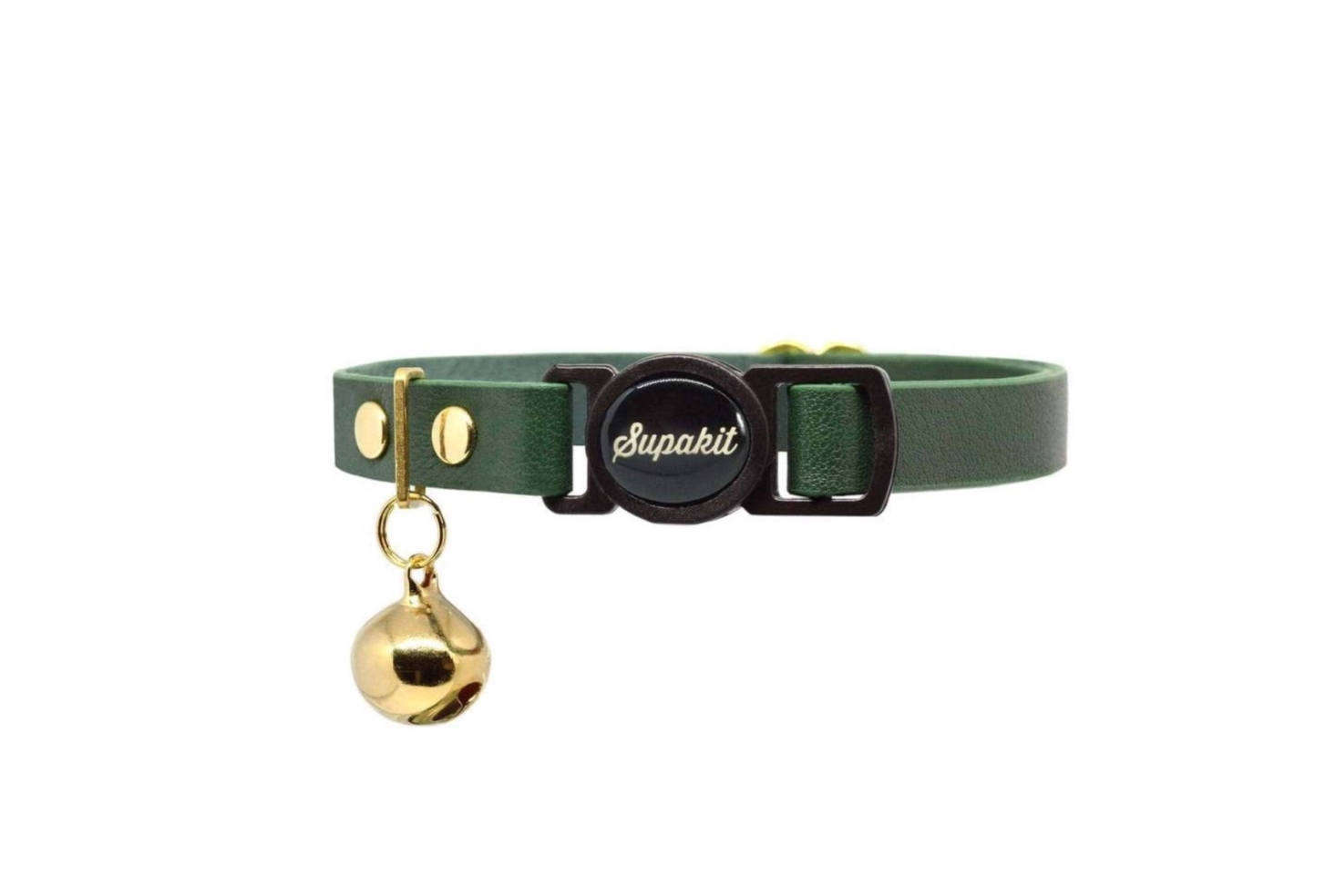 The Breakaway Leather Cat Collar from London brand Supakit comes in two sizes and eight colors; we&#8