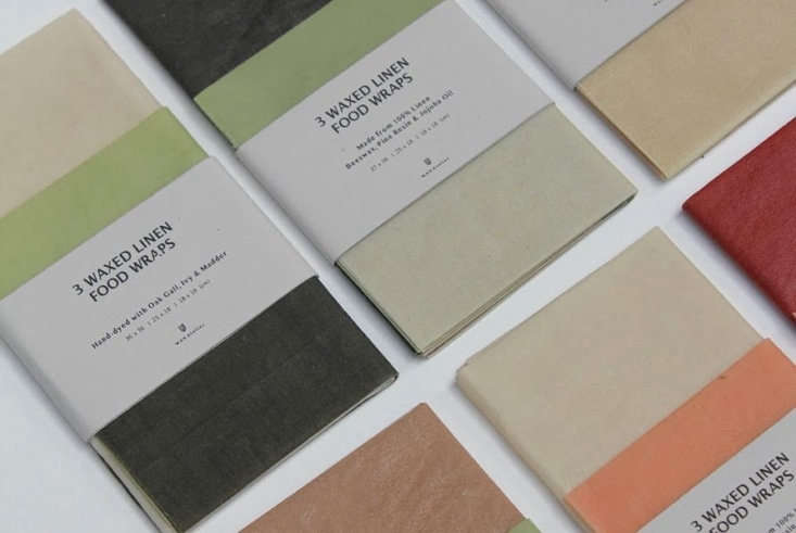 Award for the prettiest palette. Lots of companies make beeswax-infused food wraps (for use instead of plastic) and we ourselves are true converts. Wax Atelier of London stands out for its Waxed Linen Wraps in botanically dyed colors; three for £