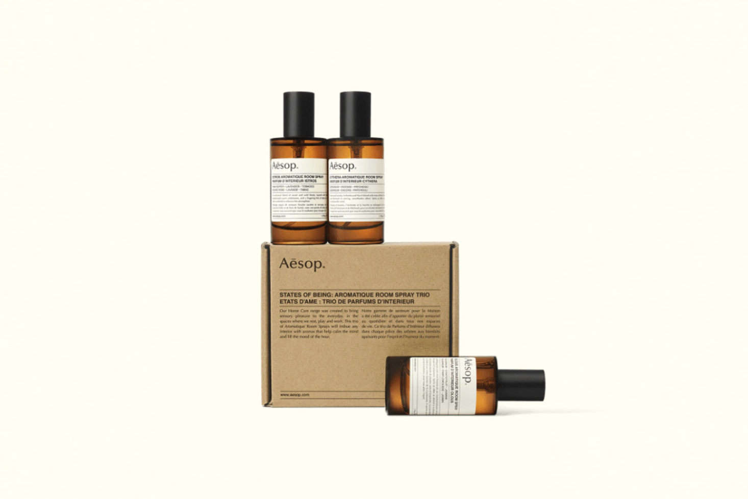 The States of Being Aromatique Room Spray Trio includes all three of Aesop&#8