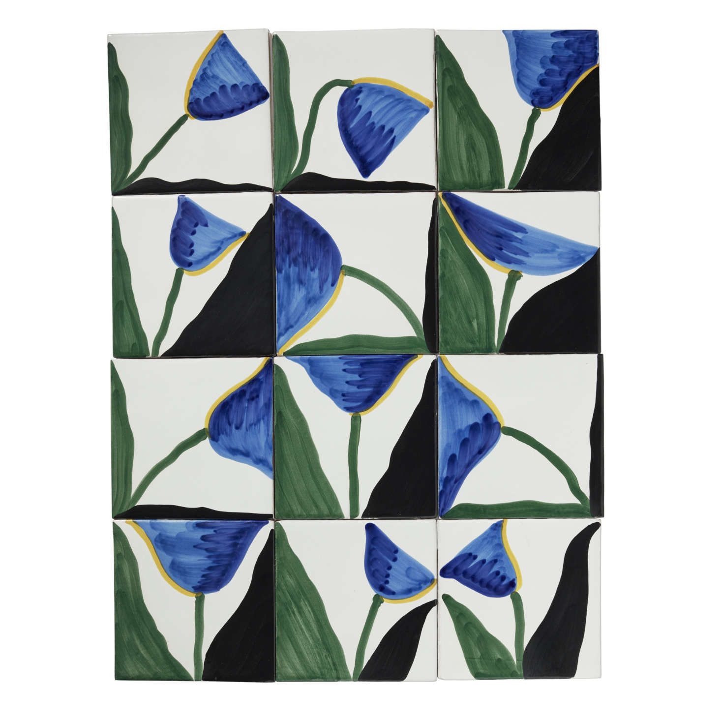 The Tulip designs work well together. Watson is planning to create a series of larger-scale Wayne Pate tile murals next.