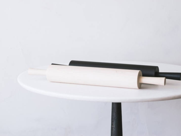Usable sculpture: The Large Rolling Pin from Blackcreek Mercantile is available in blonde or ebonized wood; $0 from Blue Hill Market.