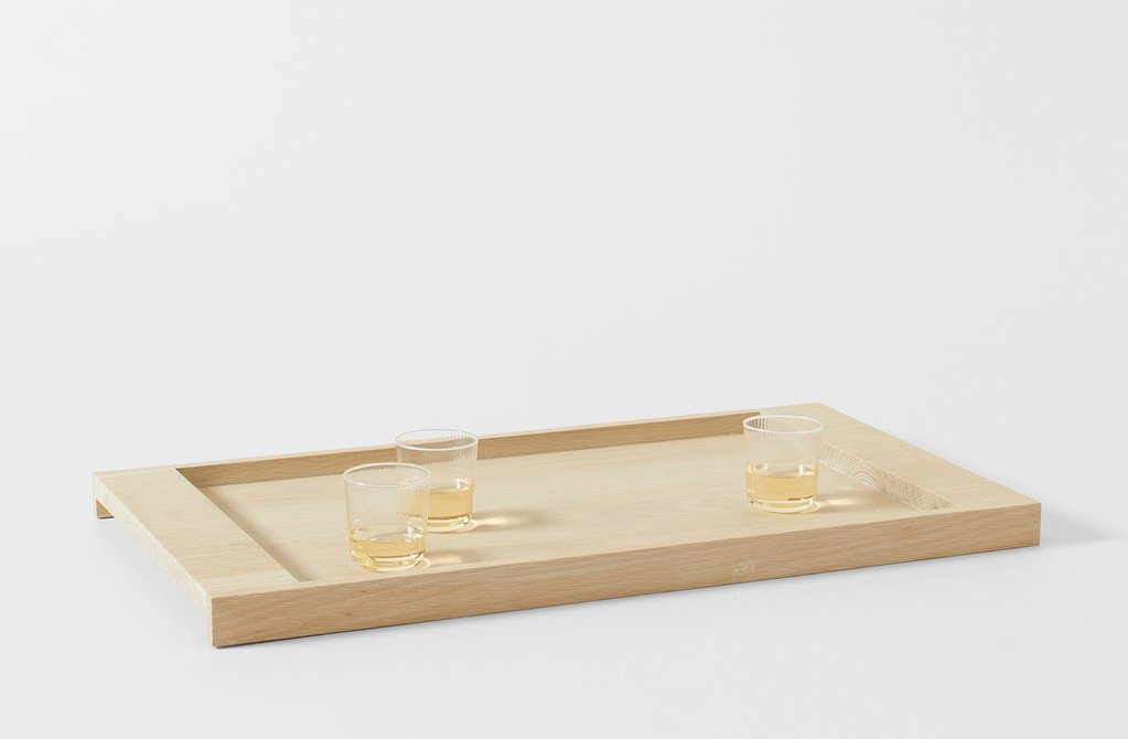From Kingston, NY-based Blackcreek Mercantile, exclusively at March in SF, the White Oak Tray is ideal for serving drinks, charcuterie, or for holding mail and keys; $900.