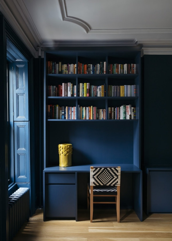 the built ins, walls, even the shutters are all painted in farrow & ball' 22