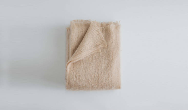 Remodelista Gift Guide 2020 Comfort Presents for Keeping Calm and Staying In &#8\2\20;We&#8\2\17;ve been using our Evangeline Linen throws nonstop,&#8\2\2\1; reports Julie. We&#8\2\17;re fans of all the Maine based company&#8\2\17;s offerings, though this Mohair Throw(shown here in rosé, \$\297) would make for a particularly soft addition for a winter indoors.