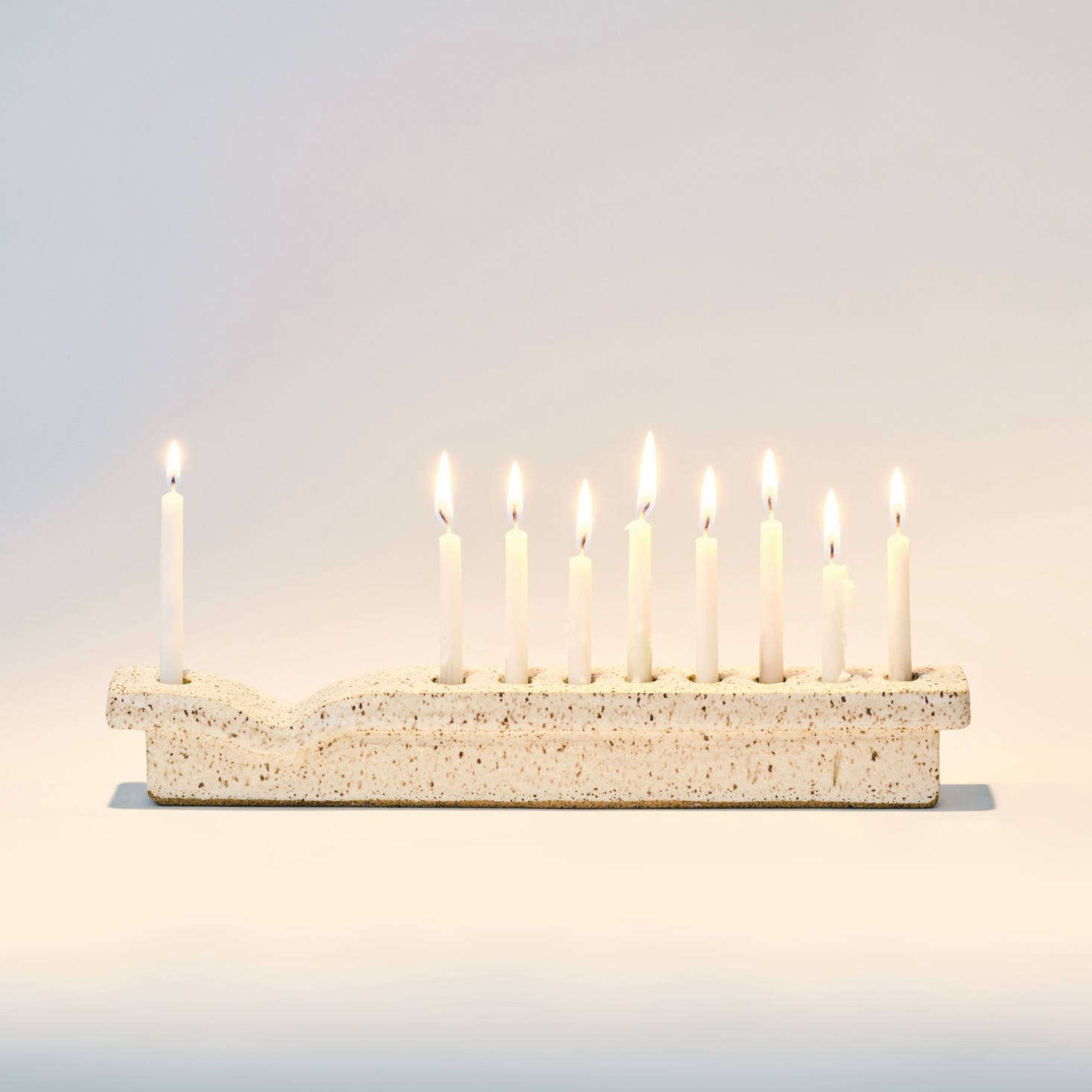 The JST X ANK Ceramics Menorah, $0, is a collaboration between Judaica Standard Time and Ank Ceramics of Camden, Maine. It&#8