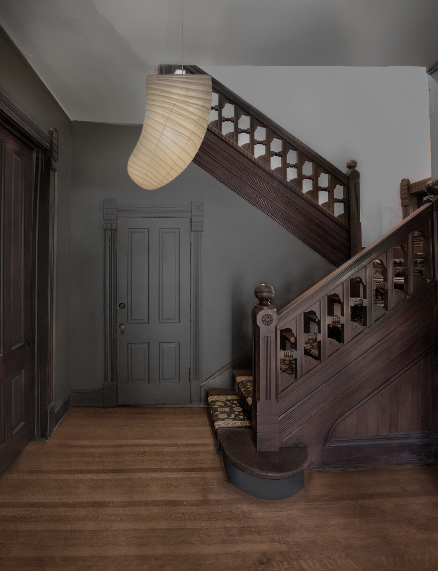 The interiors are defined by their dark, moody palette. &#8