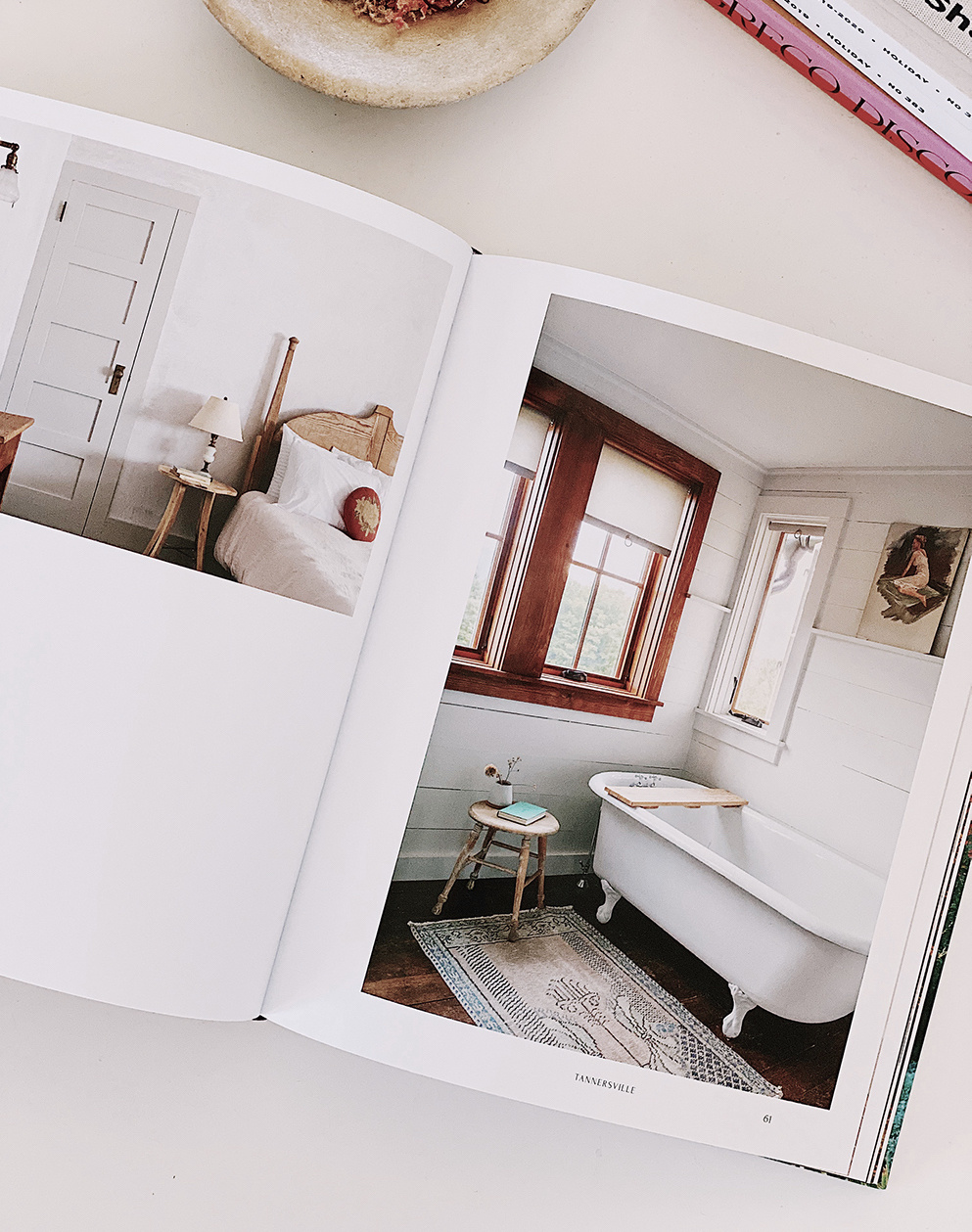Upstate: Living Spaces with Space to Live, by Lisa Przystup with photos by Sarah Elliott, features twelve personal, creative interiors on both sides of the Hudson River. Book photo via SF Girl.