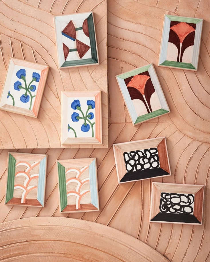 frames incorporated into the designs make the tiles look like canvases. &#8 11
