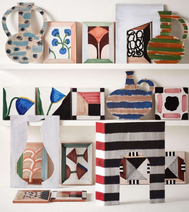 the wayne pate tile collection i is hand painted on terracotta. there are nine  10