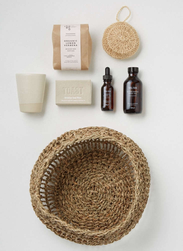 UK shop Toast specializes in ethical collaborations with artisans in the UK and beyond (and has a U.S. shipping flat rate of $). The Toast Wellbeing Basket, $0, is stocked with a hand-thrown Edmund Davies ceramic beaker, facial oil from Troll Farm of Lancashire, Rhoeco Greek herbal tea, and more.