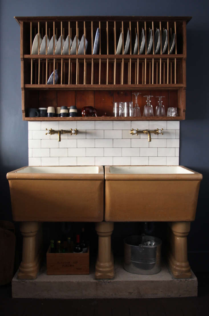 the sink has barber wilsons brass faucets—berdoulat is launching a range of t 12