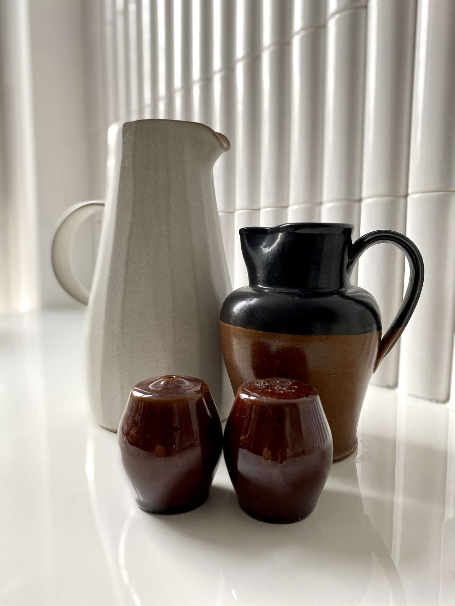 A collection of ceramics by British pottery Denby, in business since 09.