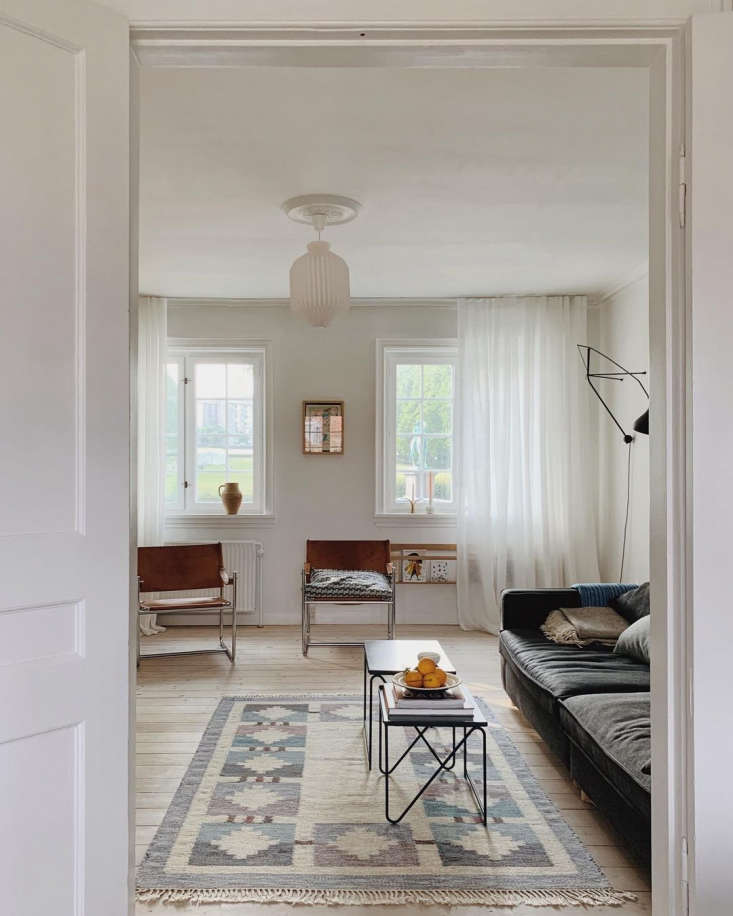 Into the serene living room. Among the major changes the couple has made to the house: &#8