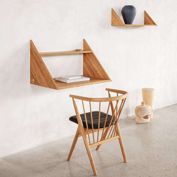 The Xlibris Wall Desk by Kasper Eistrup for Sibast Furniture is made of oiled or smoked oak; $999 at Danish Design Store.