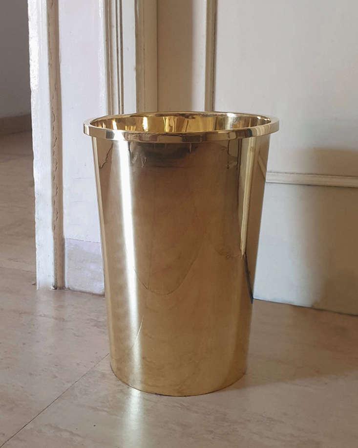 The Brass Waste Bin is $8 from Mi & Gei.