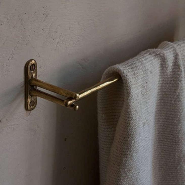 A detail of the Libre Forme No.  Towel Bar.