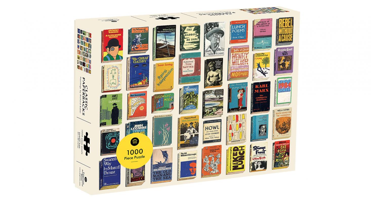 Classic Paperbacks 00-Piece Puzzle features artist Richard Baker&#8
