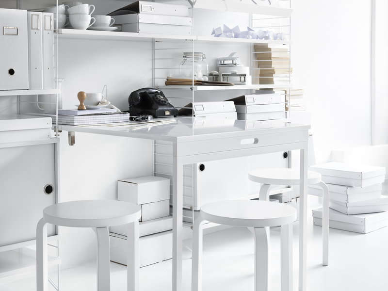 From String Furniture, the String Folding Table in white is $484 at Finnish Design Shop.