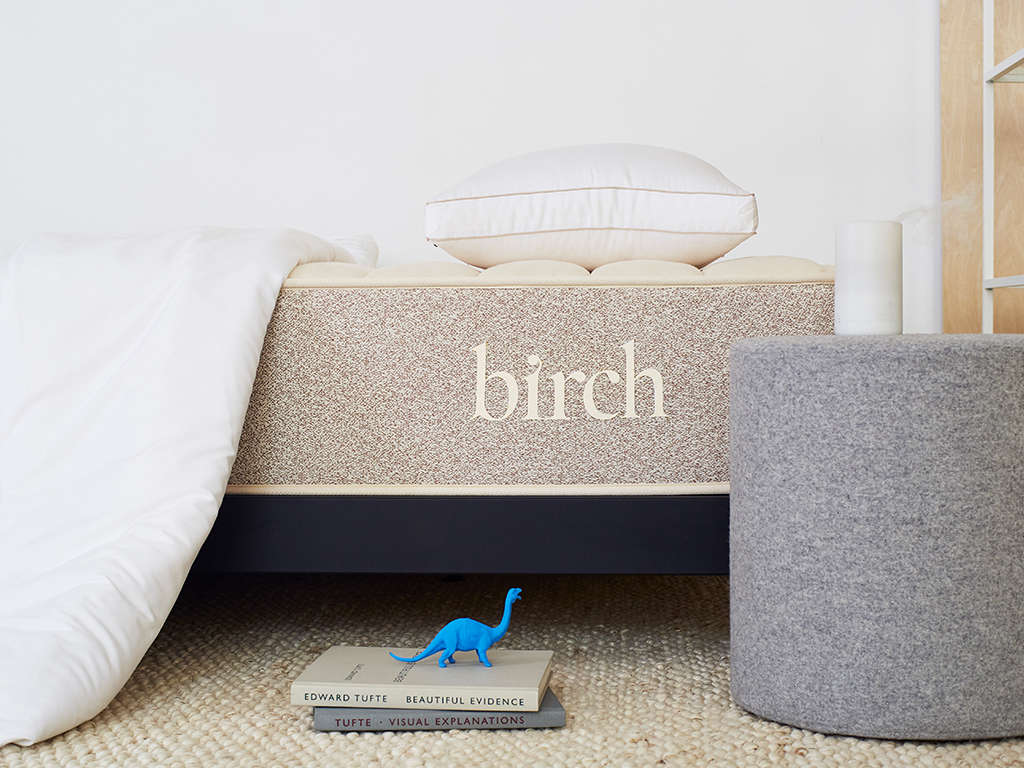 Unlike many other mattress brands, the Birch mattress is made from Oeko-Tex certified Talalay latex, sustainably sourced from the tropical rubber tree Hevea Brasiliensis for a softer feel.